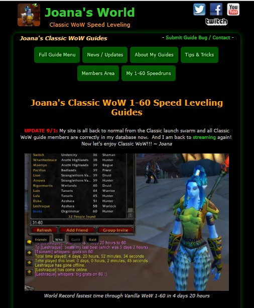 Joana's Classic WoW 1-60 Speed Leveling Guides Reviews